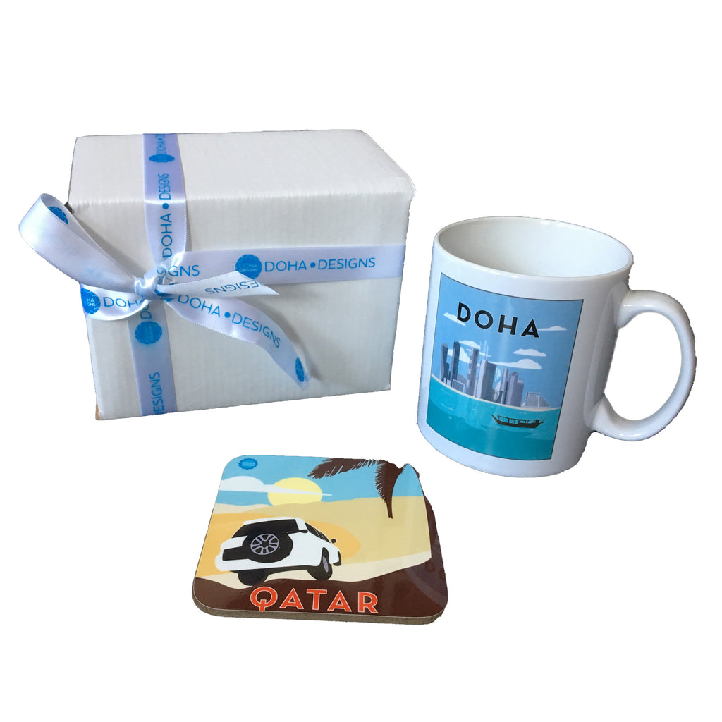 Boxed Gift Set of Mug & Coaster