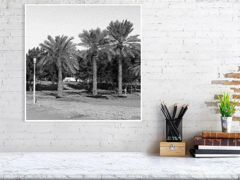 50cm Palm Trees Print Lifestyle Shot