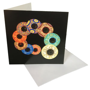 Lanterns Greetings Card & envelope