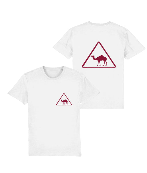 Camel Crossing T-shirt in White