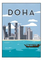 Watermarked Thumbnail of Doha  Illustration from Doha Designs