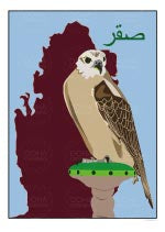Watermarked Thumbnail of Falcon Illustration from Doha Designs