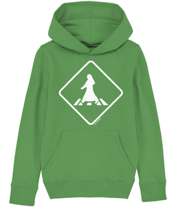 Child's pedestrian crossing hoodie from Doha Designs in green