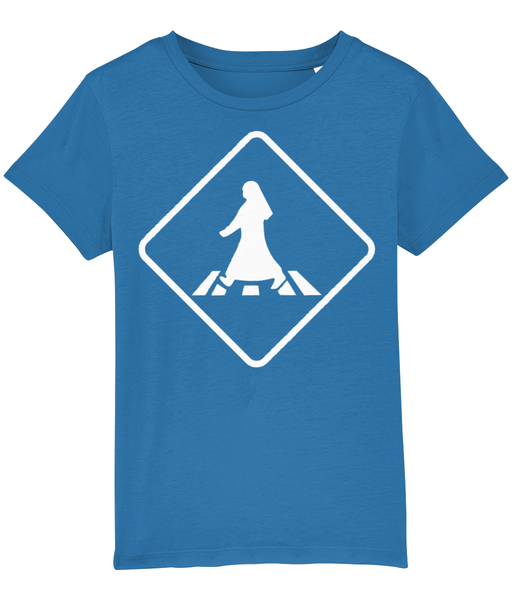 Pedestrian Crossing T-shirt for children in Royal Blue