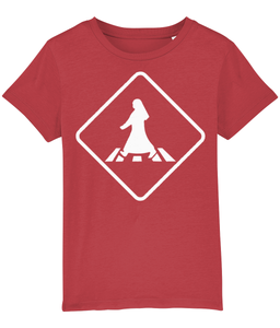 Pedestrian Crossing T-shirt for children in Red