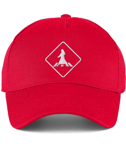Red Pedestrian Crossing Cap