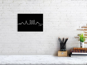 Skyline abstract Illustration from Doha Designs displayed in frame