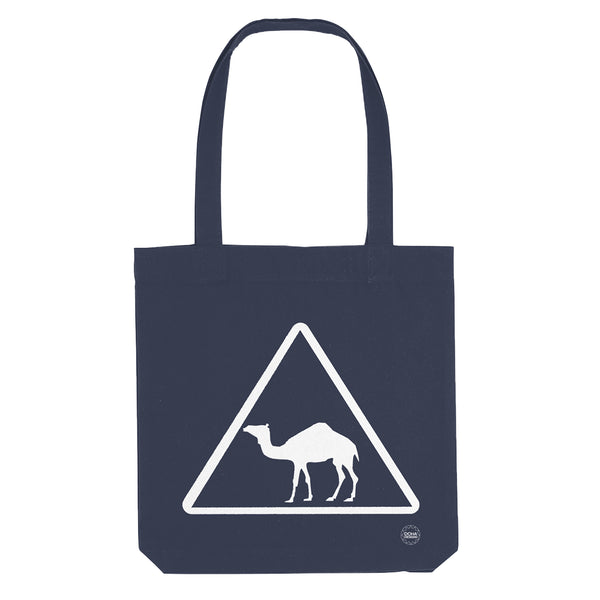 Camel Tote Bag in blue