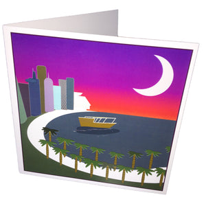 Corniche at Sunset Greetings Card