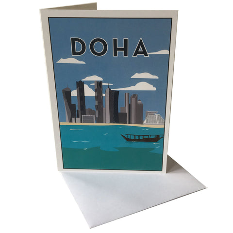 Doha Greetings Card with envelope