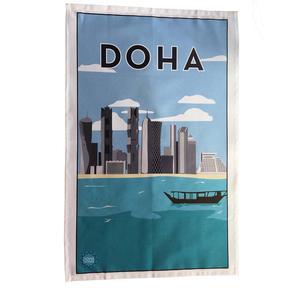 Doha tea towel