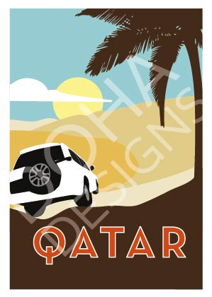 Qatar Greetings Card