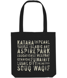 Subway Tote Bag on black