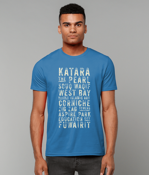 Subway t-shirt in blue on male model