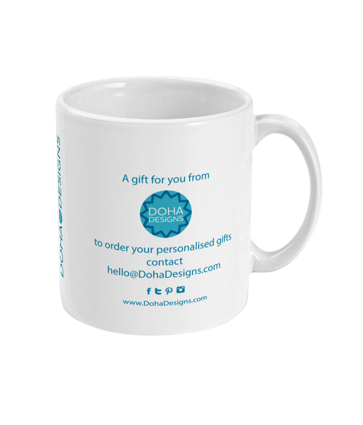 Reverse View of Personalised Doha Mug