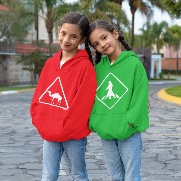 Girls wearing Crossings Sweatshirts from Doha Designs