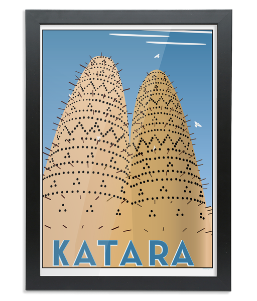 Katara Print in a black wooden Frame