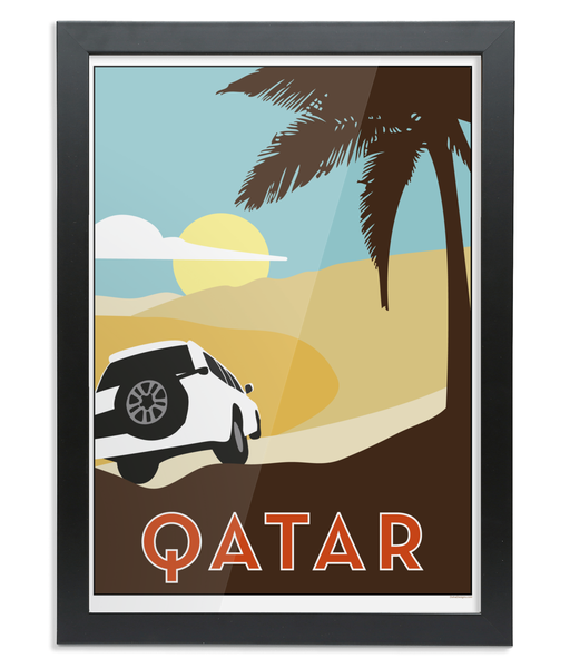 Qatar Print in a black wooden Frame