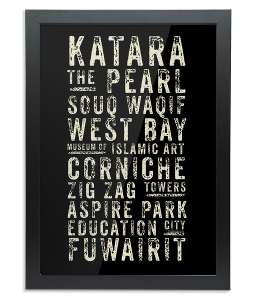Subway Print in a black wooden Frame