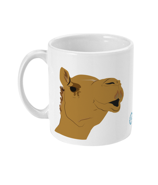 Camel Mug reverse can be personalised