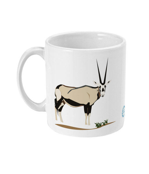 Oryx Mug reverse can be personalised