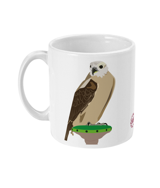 Falcon Mug reverse can be personalised