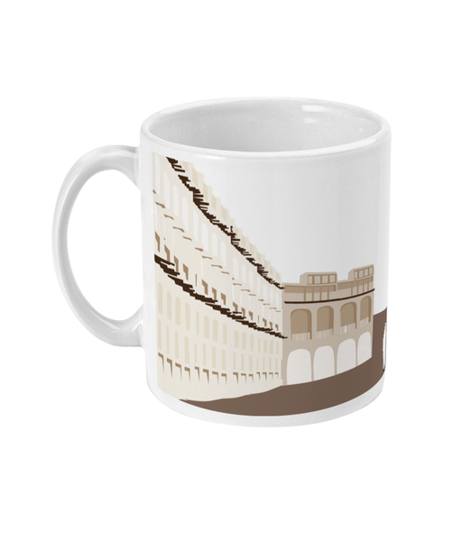 Souq Waqif  mug handle on left side view