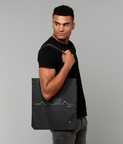 Skyline Bag in Black with male model