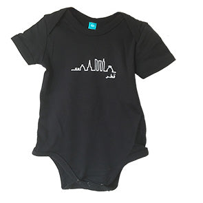 Black Skyline Onesie