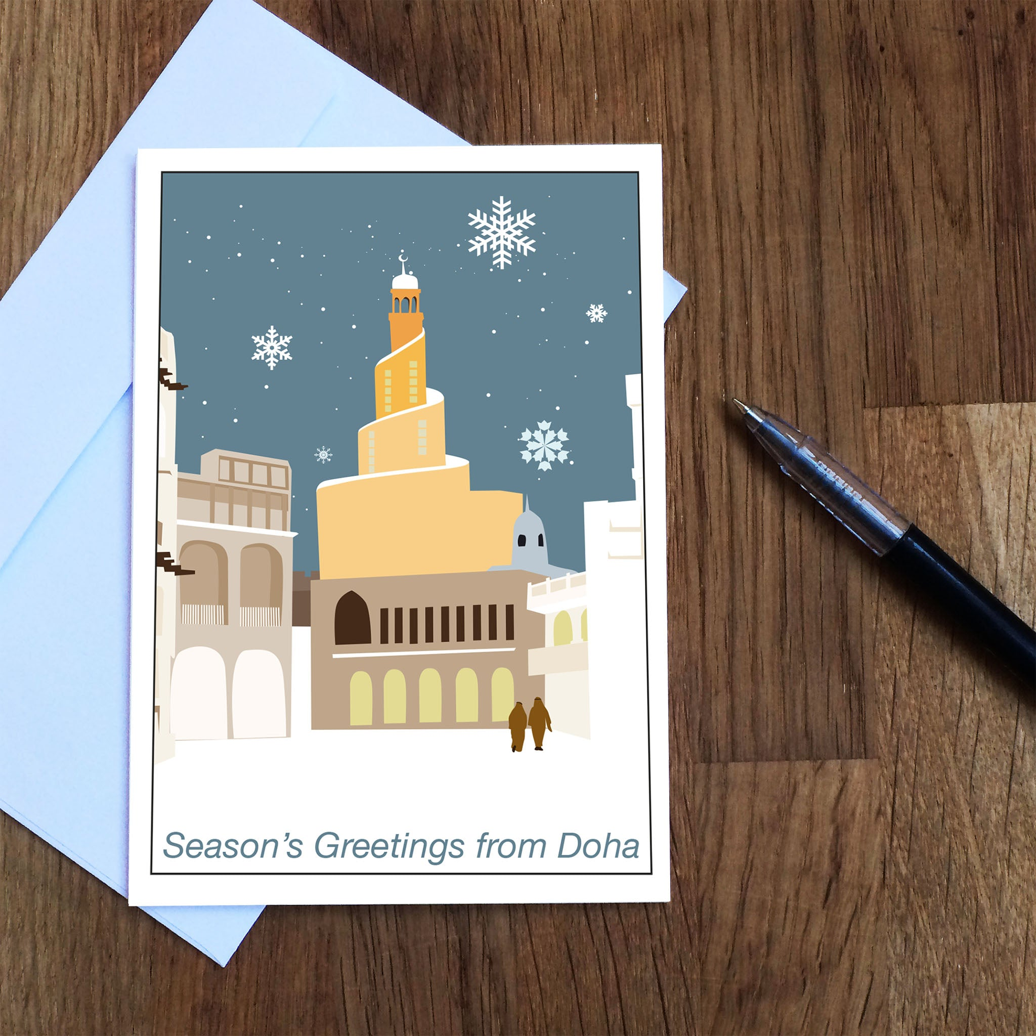 Winter Souq Greetings Card