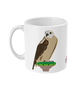 Falcon mug handle on left side view