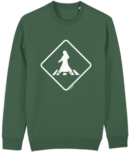 Pedestrian Crossing Sweatshirt from Doha Designs in green
