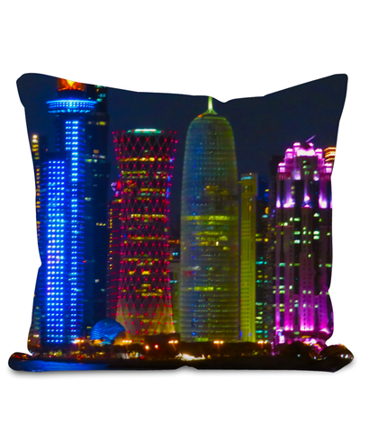 West Bay at Night Cushion