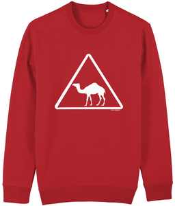 Camel Crossing Sweatshirt from Doha Designs in red