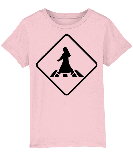 Pedestrian Crossing T-shirt for children in Pink