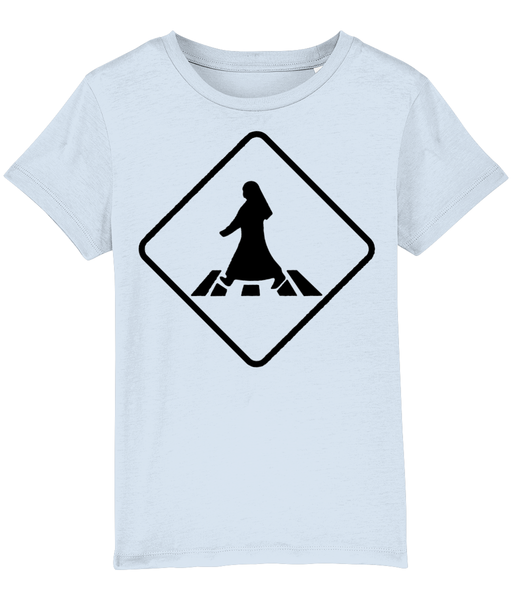 Pedestrian Crossing T-shirt for children in Sky Blue