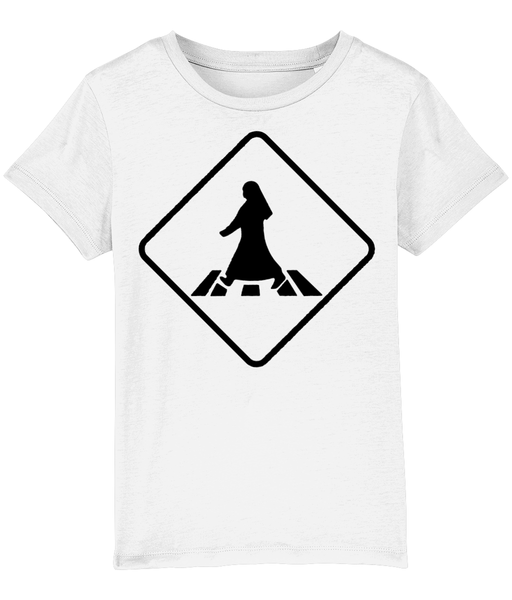 Pedestrian Crossing T-shirt for children in White