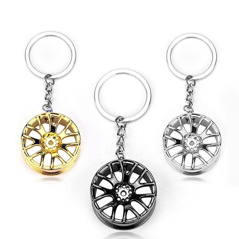 Car Keychain Alloy Wheel
