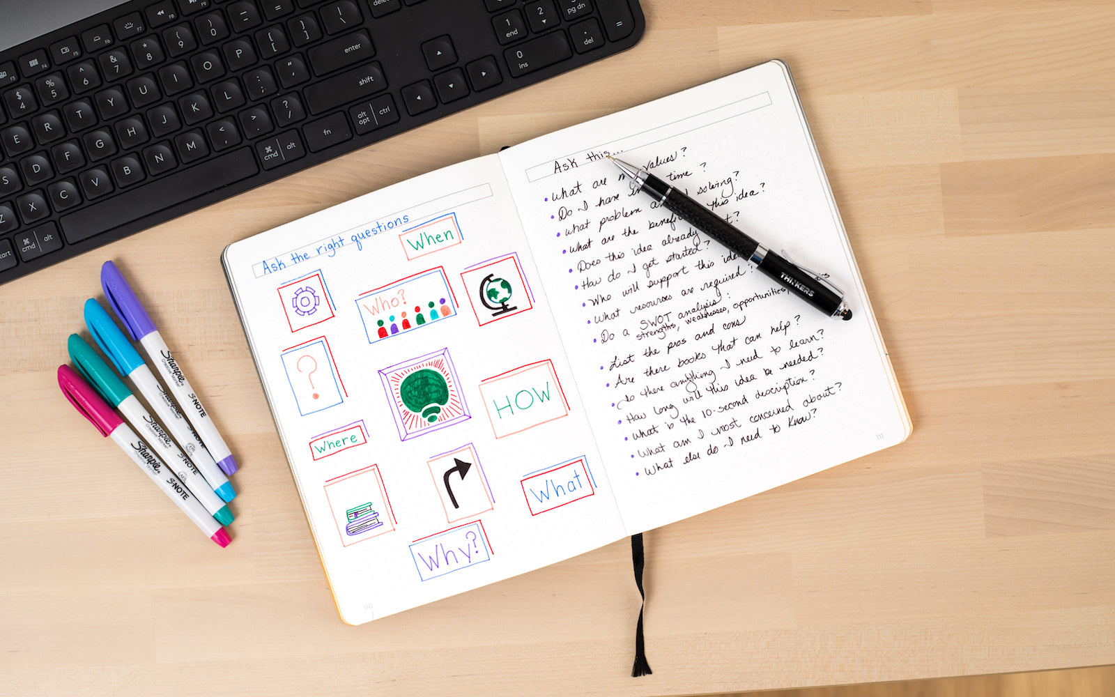 If you love to Bullet Journal, then the THINKERS Notebook is a great solution. Combining a premium journal with an intuitive app, the THINKERS Notebook makes it easy to capture and organize your ideas using an intuitive app.