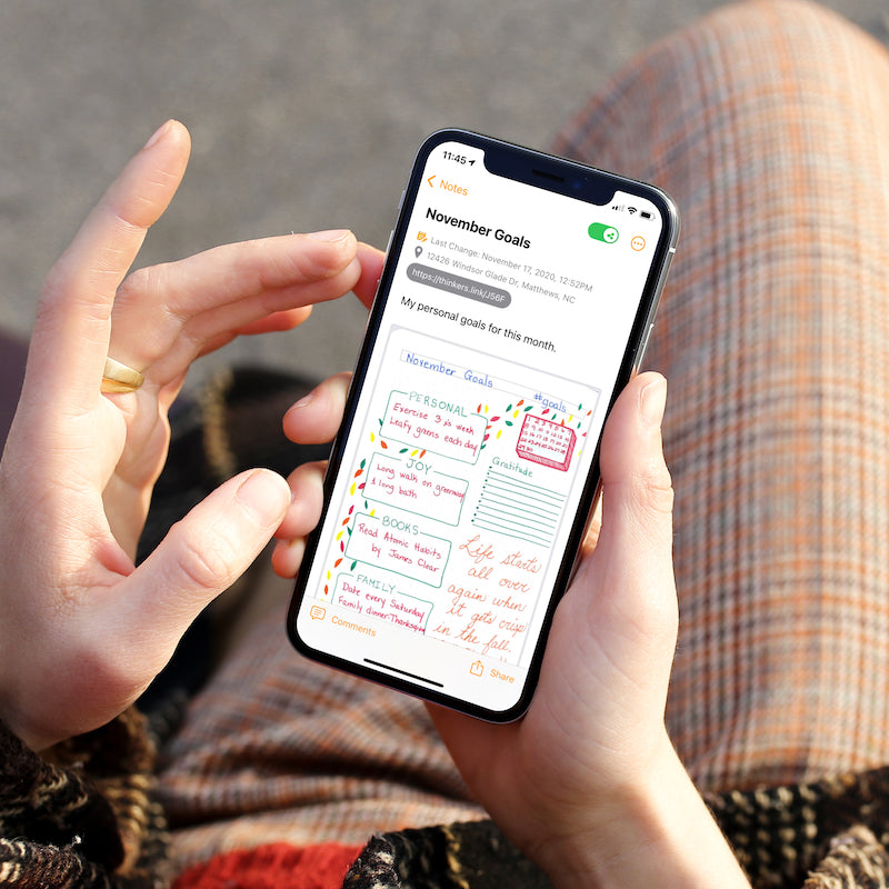 Bullet Journals are a great way to plan out your life goals. But what happens if you loose your journal? The THINKERS App makes it easy to capture and organize your journal pages on your phone - making it easy to refer to them when you are on the go.