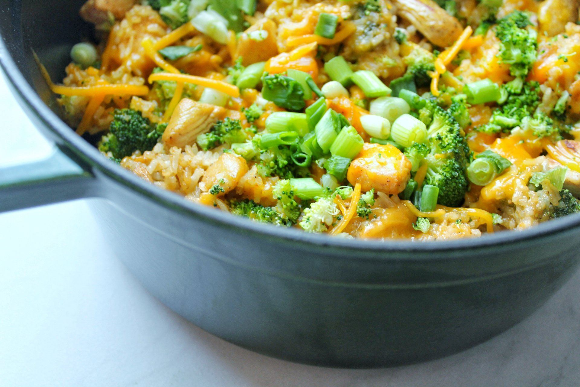 One Pot Cheesy Chicken and Broccoli