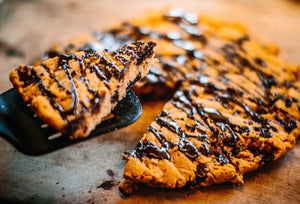 Baked Sweet Potato Chocolate Chunk Pie