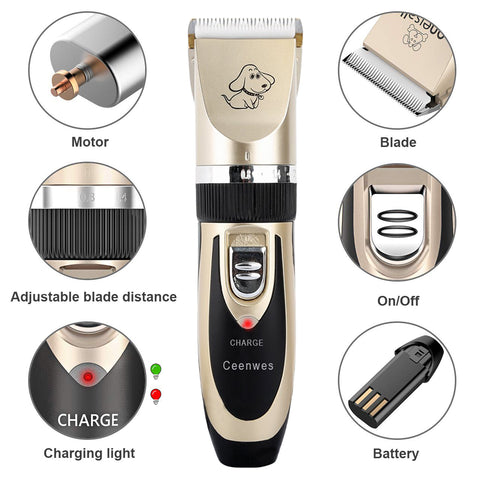 pet grooming clipper Kit Package Content
