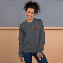 Load image into Gallery viewer, Adult Unisex Embroidered Heather Gray Sweatshirt