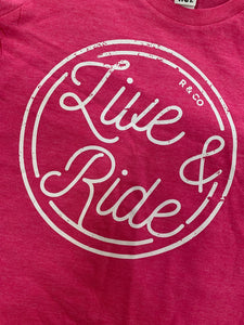 kids live and ride tee