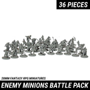 Enemy Minions Battle Pack, 36 Piece Miniature Figurines Set and Protective Case