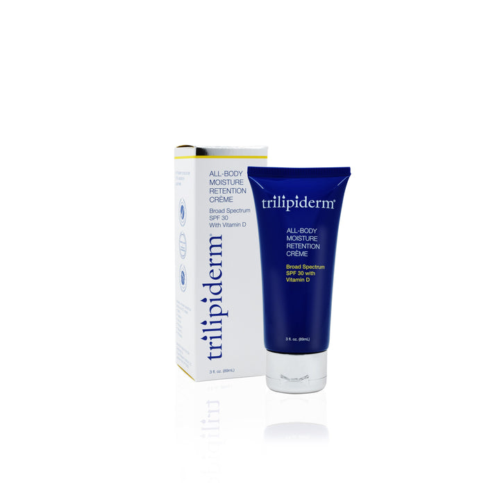 All-Body Moisture Retention Crème Broad Spectrum SPF 30 –3oz. Tube - Trilipiderm