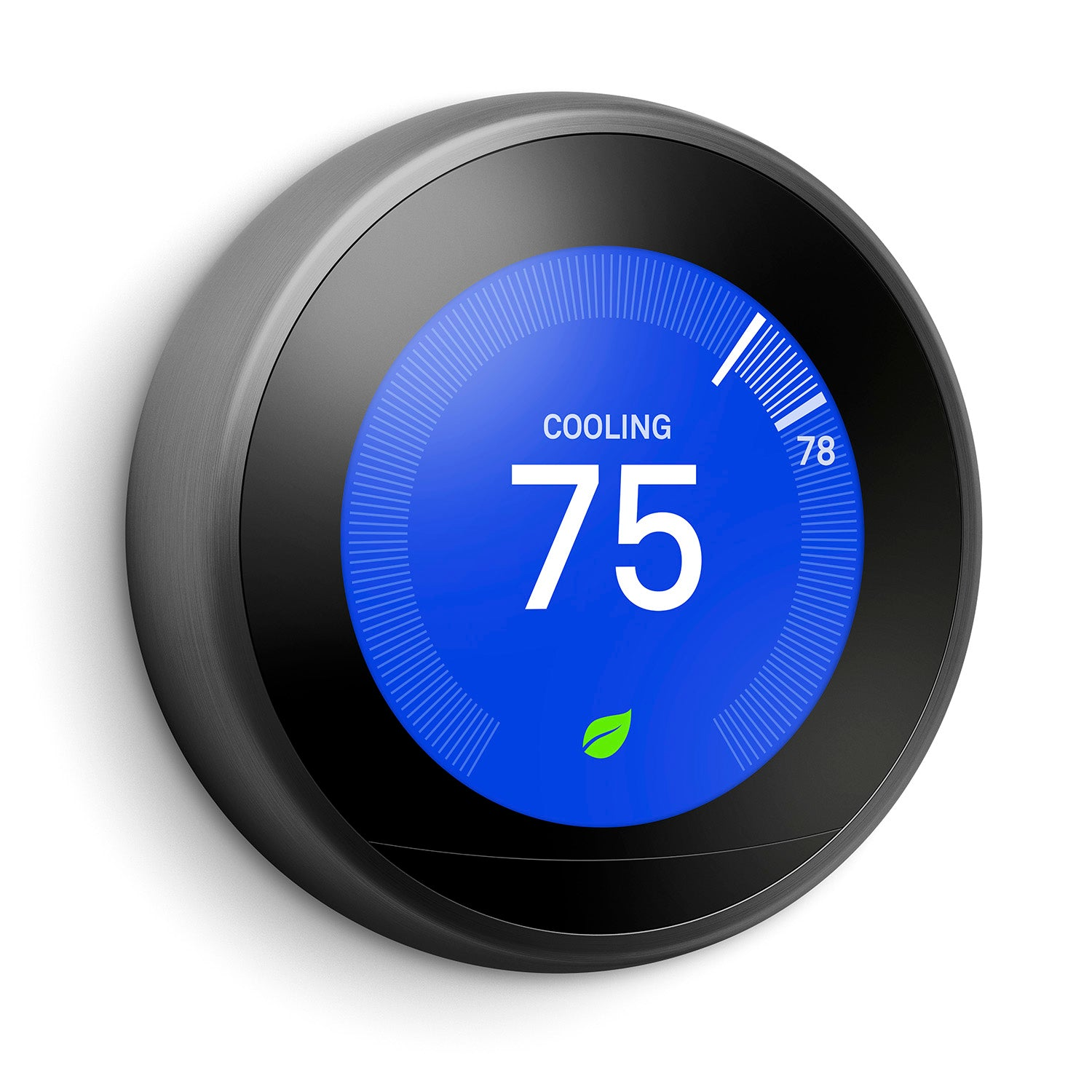 3rd gen Nest Learning Thermostat - Silver ring color - cooling