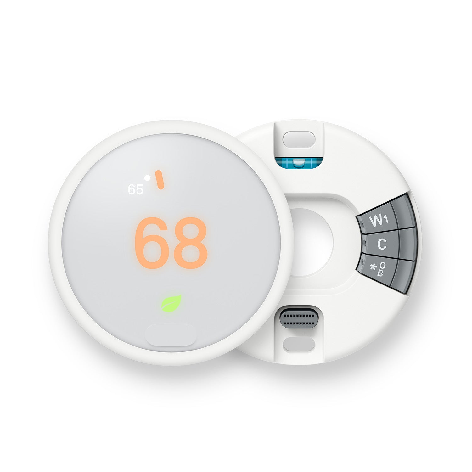 Nest Thermostat E Backplate and Display Image