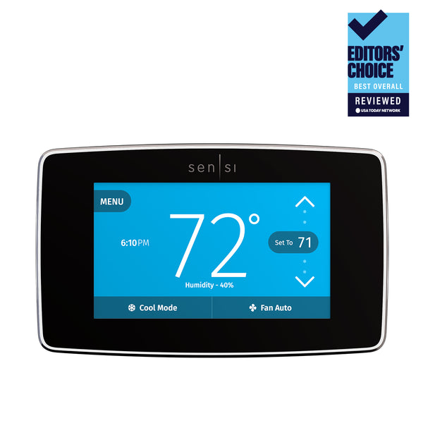 Emerson Sensi Touch Smart Thermostat with Color Touchscreen image 14936370315317